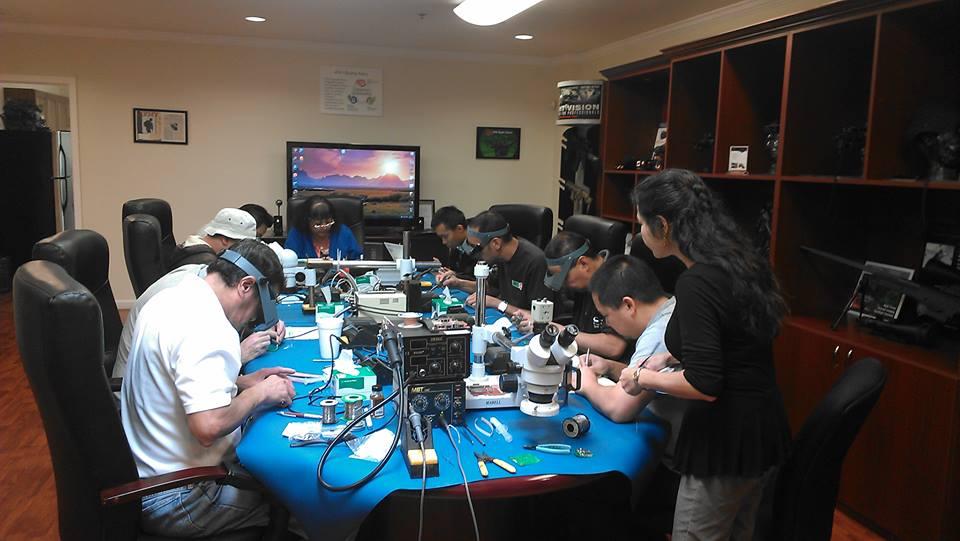 Training at customers facility.